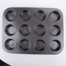12 cups Baking Tray Carbon Steel Muffin Pan