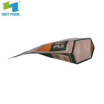 bread kraft paper bag packaging custom print with self sealing
