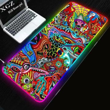 RGB large luminous mouse pad large non slip keyboard pad mouse pad game desk pad