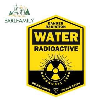 EARLFAMILY 13cm x 9.3cm WATER RADIOACTIVE Car Sticker DO NOT DRINK Decal Waterproof Window Accessories