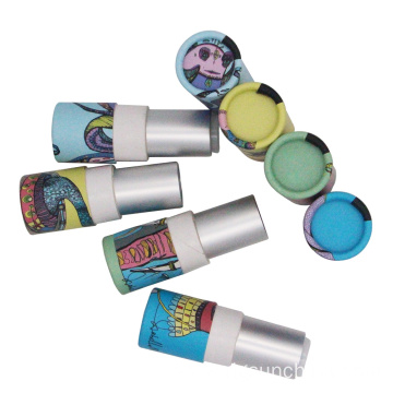 Cute paper lipstick tube packaging