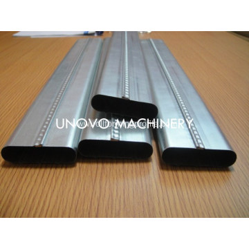 unovo cold rolled steel flat oval tube