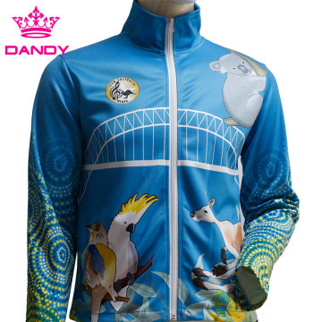 Mens sublimated zip up jogging kostyum