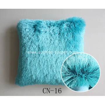 Pillow With Polyester Shaggy Yarn