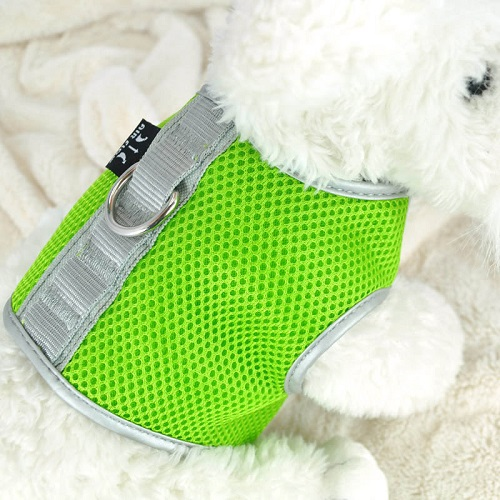 Green Airflow Mesh Harness with Velcro back