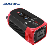 AOSHIKE Car Inverter 12V 220V 300W Multi-function Car Charger 4 USB With Display Car Inverter With Cigarette Lighter Inverter