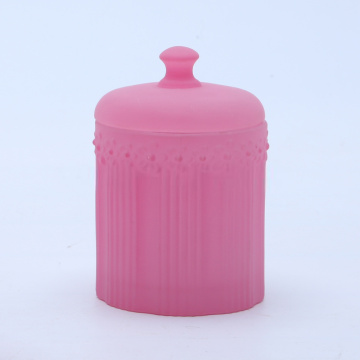 Luxury Purple Glass Jar For Candle Making
