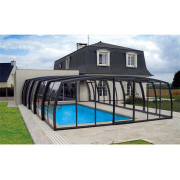 Polycarbonate Telescopic Swimming Screen Pool Enclosure Kit