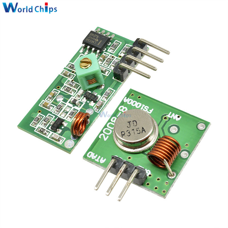 433 Mhz RF Transmitter and Receiver Module Link Kit for ARM/MCU WL DIY 315MHZ/433MHZ Wireless Remote Control for arduino Diy Kit