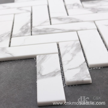 Marble and Glass Mosaic Tile for Wall Decor