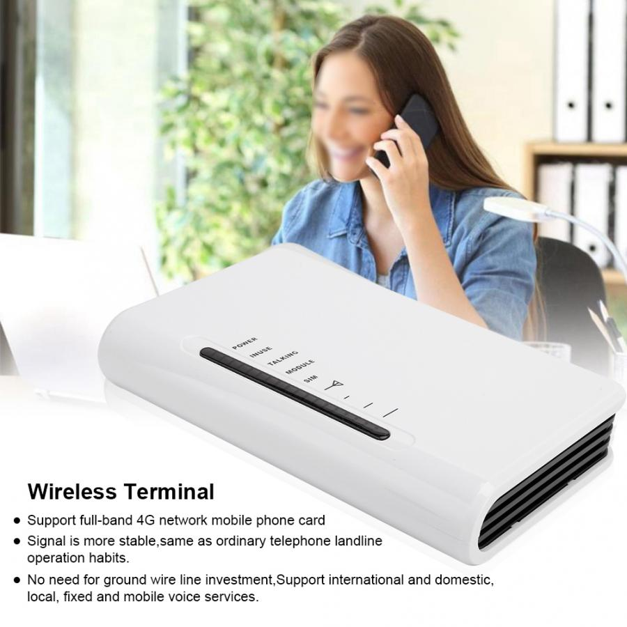 Fixed Wireless Terminal Platform Access for SIM Phone Caller 100-240V 4G With Light No Screen EU Version