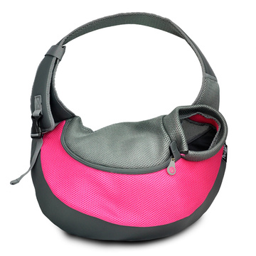 Pink PVC and Mesh Pet Sling for Dogs