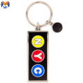 Gift Metal Custom Subway Enamel Keychain