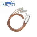 Ignition electrode for gas burner ceramics