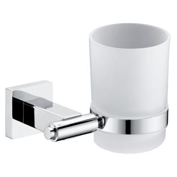Bathroom Accessory Sets Glass Holder With Metal Base