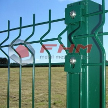 Green Glavanized 3D PVC Coated Welded Fence with High Security