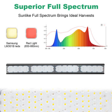 Black plant led grow light bar commercial
