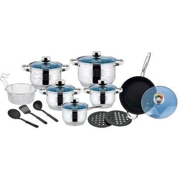 18pcs cookware set with non-stick coating