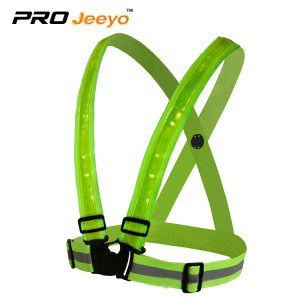 safety running belt vest with led light