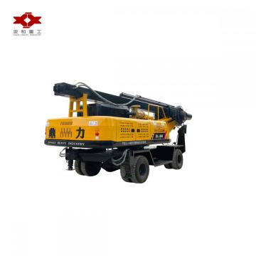 Wheel diesel rotary drilling rig