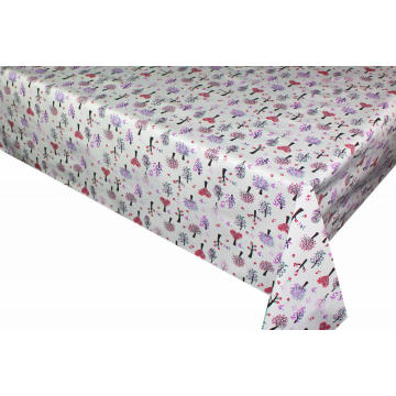 Inch Round Elegant Tablecloth with Non woven backing
