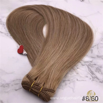 Russian P8/60 Machine weft hair