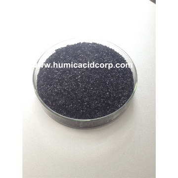 Super potassium humate shiny flakes in high quality