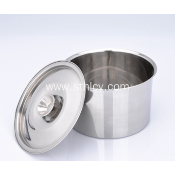 Stainless Steel Straight Stirring Bowl With Cover