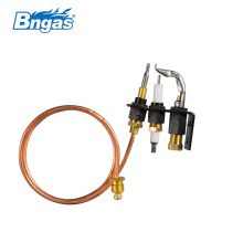 Brass pilot burner for gas water heater