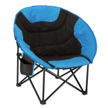 Sky blue Padded Round Stable Folding Chair