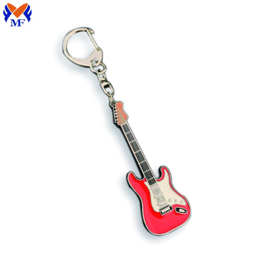 Metal Custom Guitar Order Keychains With Epoxy