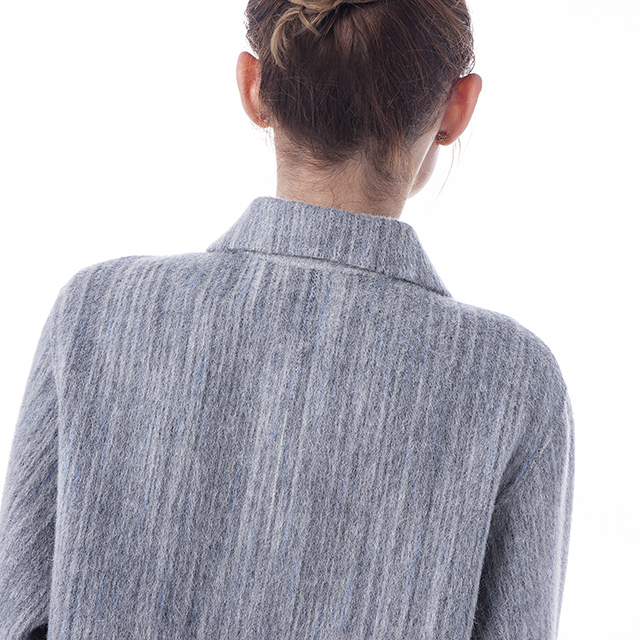 Fashion cashmere wool jacket on the back