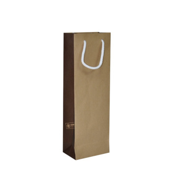 Cheap Price Custom Kraft Paper Wine Packaging Bag