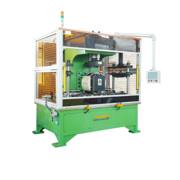 Flanged button seam riveting equipment