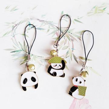 Cute Panda Decor Strap Lanyards for IPhone/Samsung Kawaii Keys Mobile Phone Strap Hanging Rope Smartphone Charm