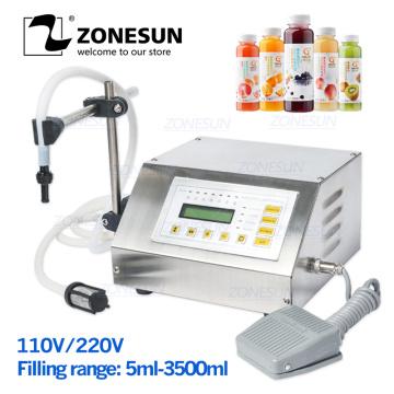 ZONESUN 5-3500ml Digital Control Water Drink Perfume Juice Milk Small Bottle Filler GFK 160 Packing Liquid Filling Machine