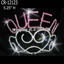 rhinestone heart and queen crown