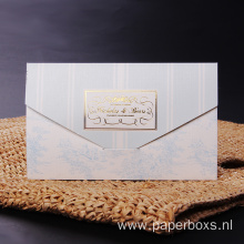 Luxury White Custom Gold Foil Logo Paper Envelope