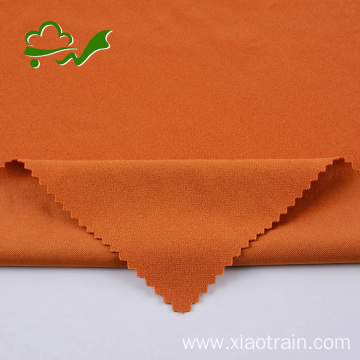 Poly spandex double knit crepe fabric for garment