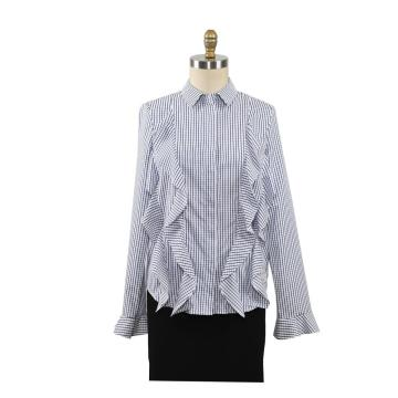 Lady Autumn Long Sleeve Ruffle Blouse