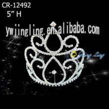 Rhinestone Crowns Cheap Pageant Tiara CR-12492