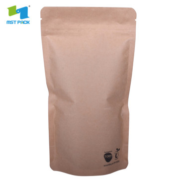 custom printed zipper recyclable stand up pouch kraft