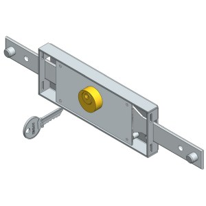 Central roller shutter lock straight bolt