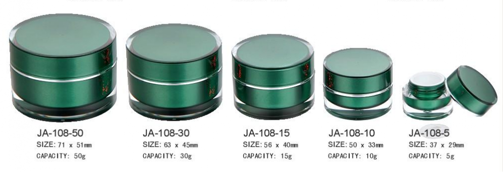 small plastic cosmetic containers, cosmetic pots