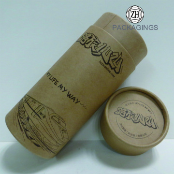 Unique brown kraft mailer tube packaging