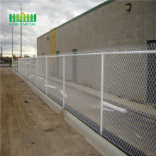Chain link fence zinc coating