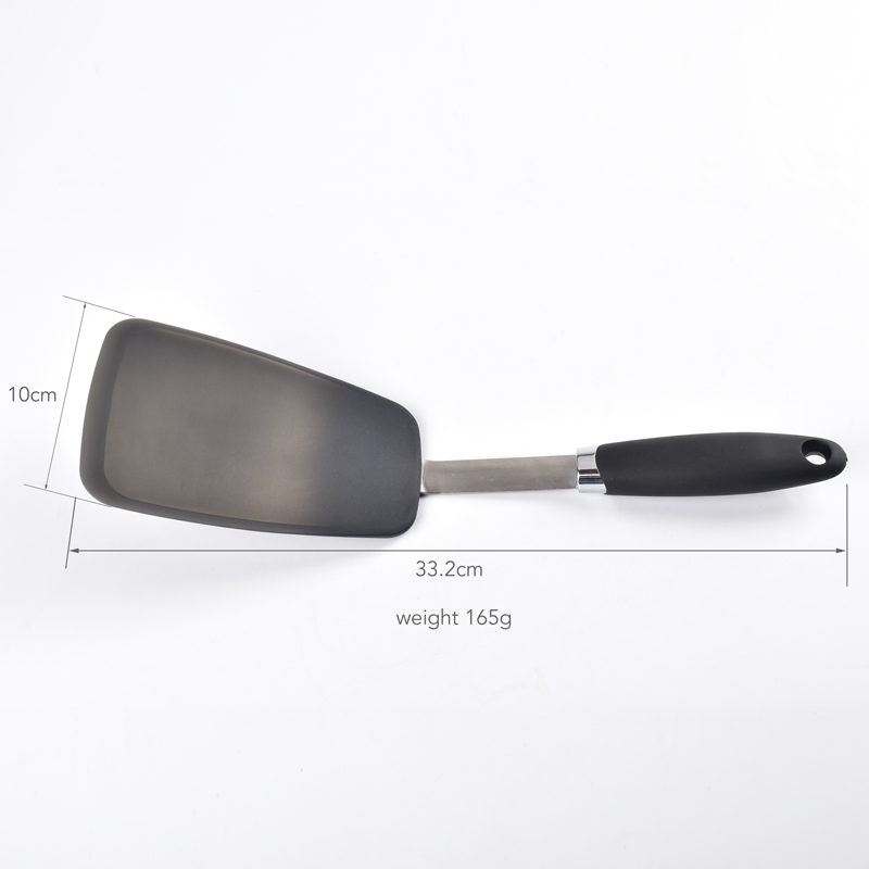 stainless steel silicone flexible cooking turner spatula set