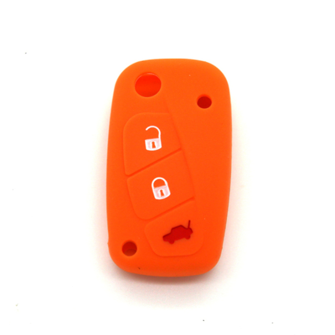 Silicone Car key cover Fiat
