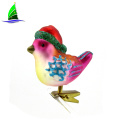 glass hanging bird ornament for Christmas tree decoration