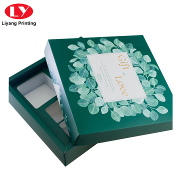 Cosmetic Skin Care Beauty Gift Box with Tray